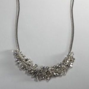 Kenneth Cole Silver and Hematite Beaded Necklace